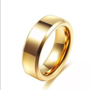 Other - 8mm Gold Stainless Steel Band